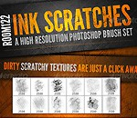 Ink Scratches Photoshop Brush Set