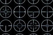 crosshairs vector set