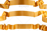 Elegance gold ribbon banner