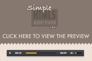 Simple HTML5 Audio Player V1