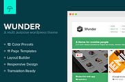 Wunder - Multi Purpose Wordpress Theme