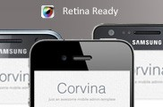 Corvina Mobile Admin HD | HTML5 & CSS3 And iWebApp