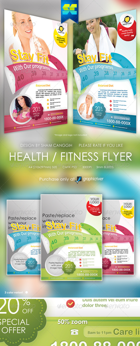 health and fitness flyer templates .
