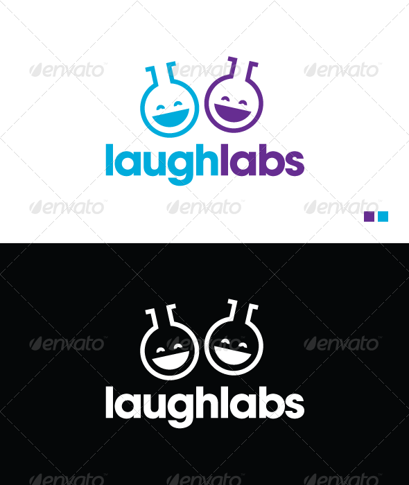 Graphic River Laugh Labs Logo Template Logo Templates -  Objects 864403