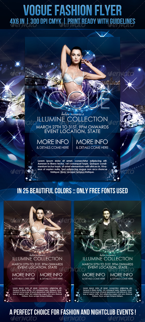 Graphic River Vogue Fashion Flyer Print Templates -  Flyers  Events  Clubs & Parties 864416