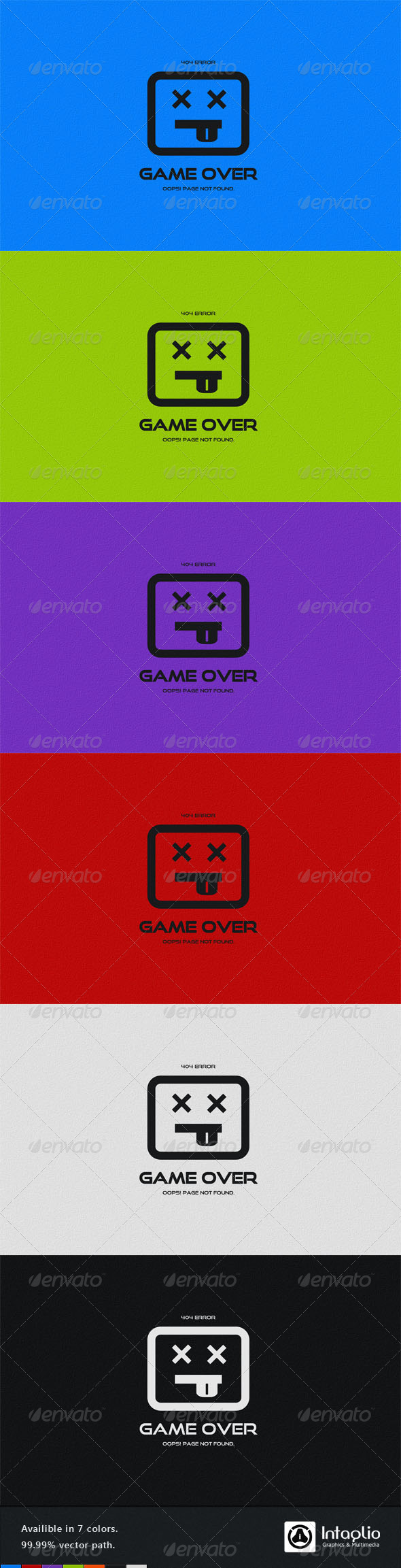 GraphicRiver Game Over 404 Error Page 866894