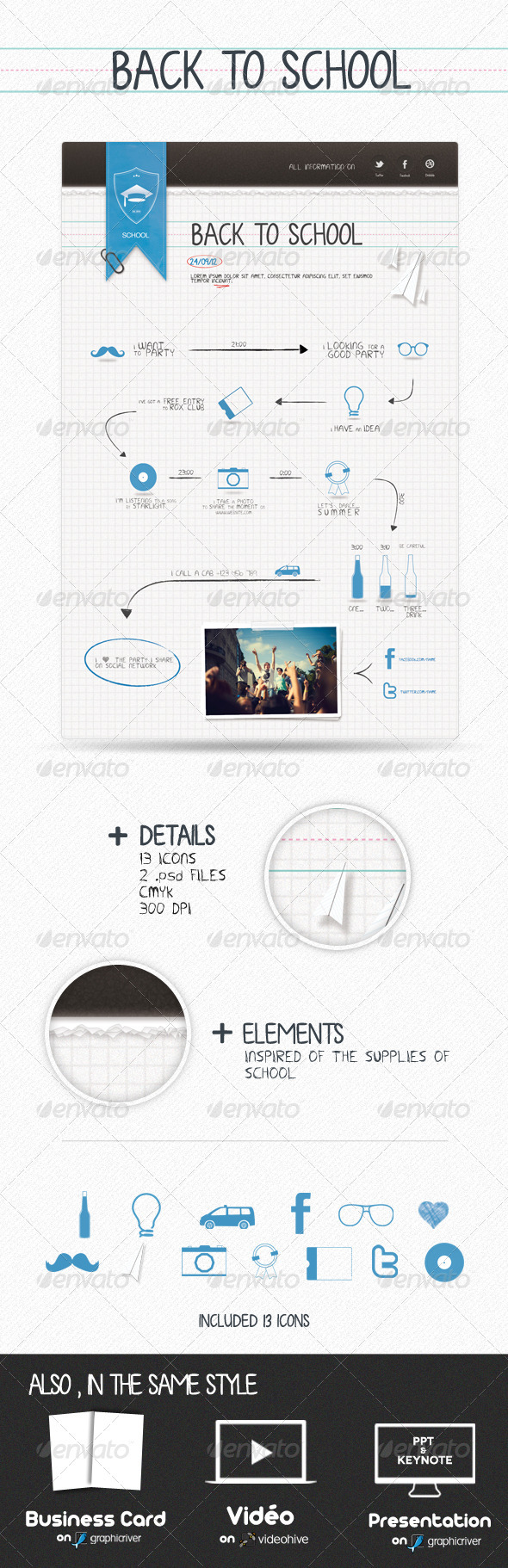 GraphicRiver Back To School Flyers 867707