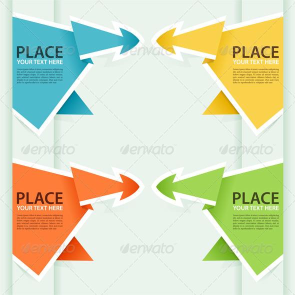 Graphic River Collect Paper Origami Arrow Vectors -  Conceptual  Business  Concepts 868053