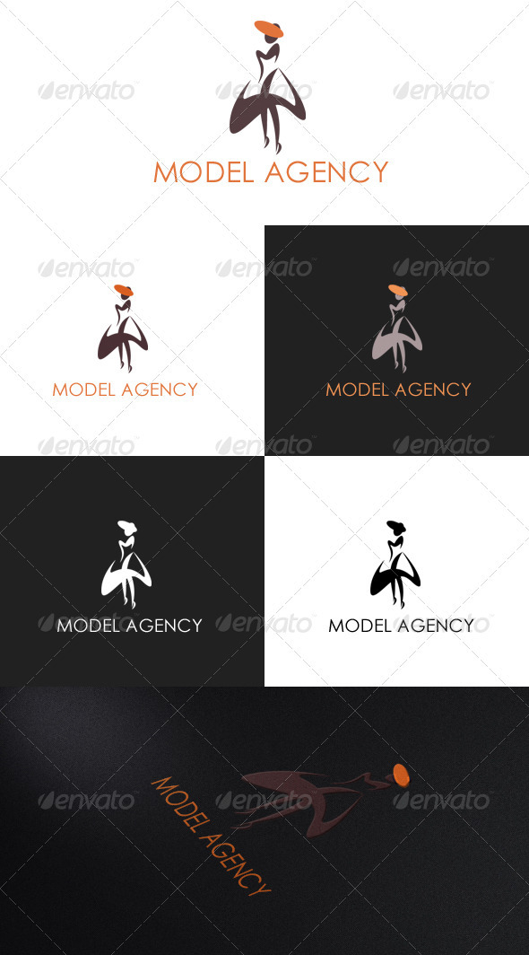 Graphic River Model Agency Logo Logo Templates -  Humans 868095