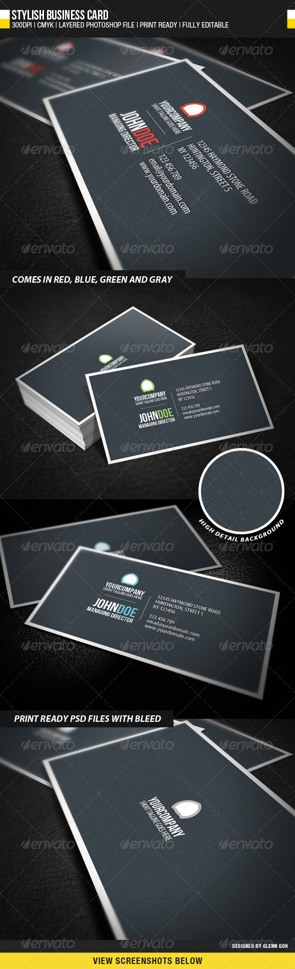 GraphicRiver Stylish Business Card 878390