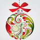 Christmas ball from leaf pattern. - GraphicRiver Item for Sale