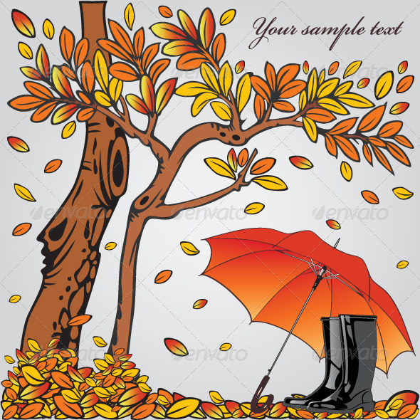 Graphic River Autumn Composition  Vectors -  Conceptual  Seasons/Holidays 883315