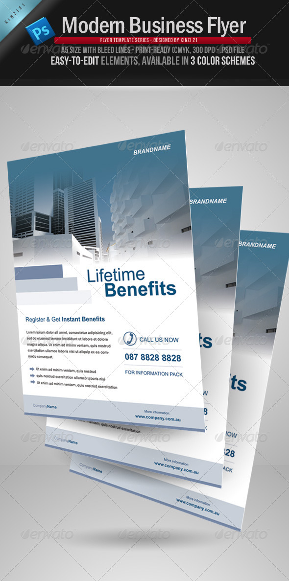 GraphicRiver Modern Business Flyer 111086
