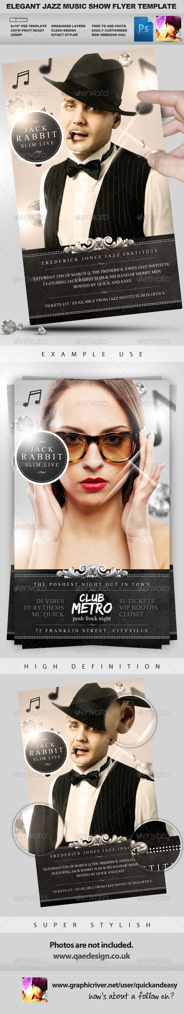 GraphicRiver Jazz Music Event PSD Flyer Template 884134