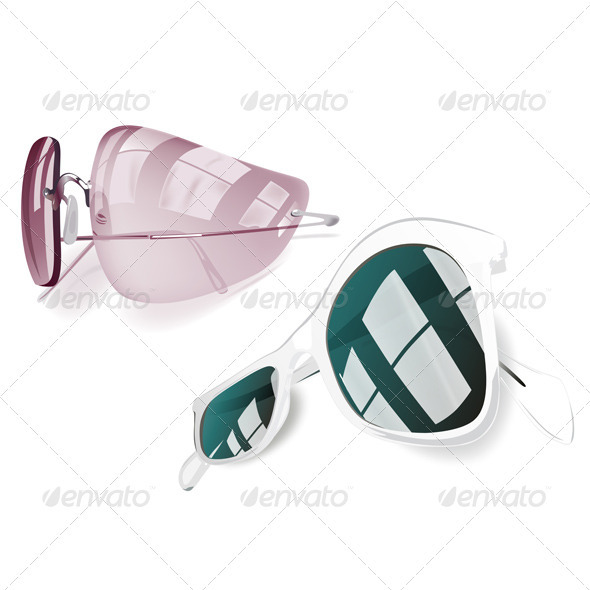 Graphic River Sunglasses Set Vectors -  Objects  Man-made objects 891559
