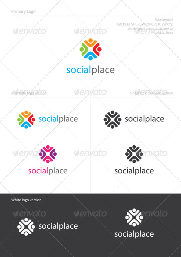 Graphic River SocialPlace Logo Templates -  Humans 896663