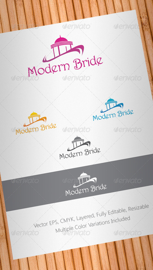 Graphic River Modern Bride Logo Template Logo Templates -  Buildings 897178