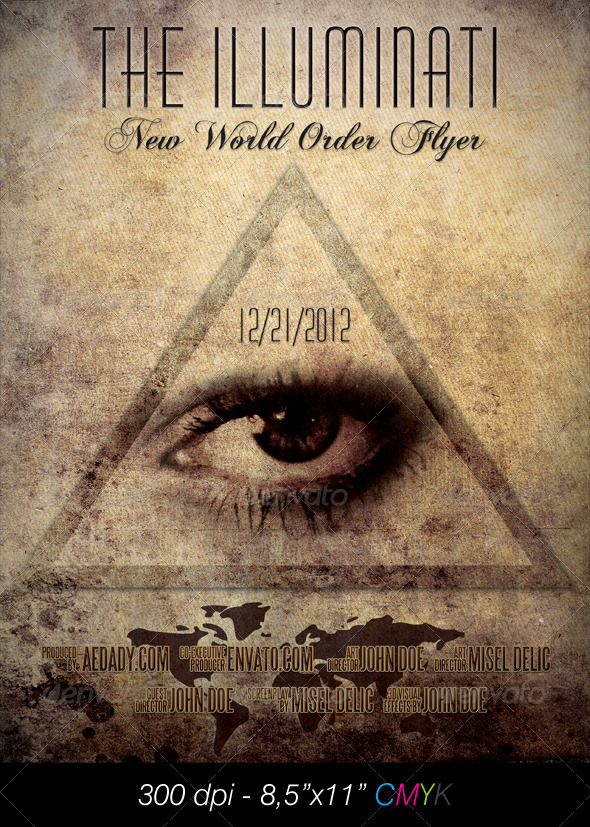 Graphic River Illuminati Film Poster Print Templates -  Flyers  Events  Other 898745