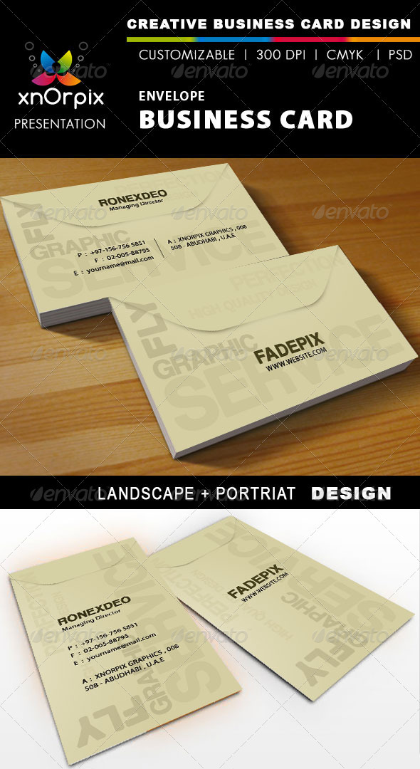 Graphic River Envelope Business Card Print Templates -  Business Cards  Creative 898798