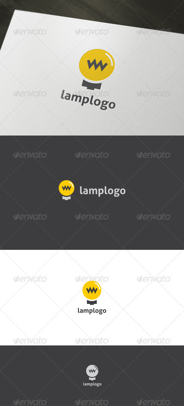Graphic River Lamp Logo Logo Templates -  Objects 902153