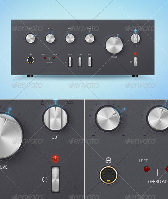 Graphic River Stylized Soviet Amplifier Interface. Graphics -  Miscellaneous 907169
