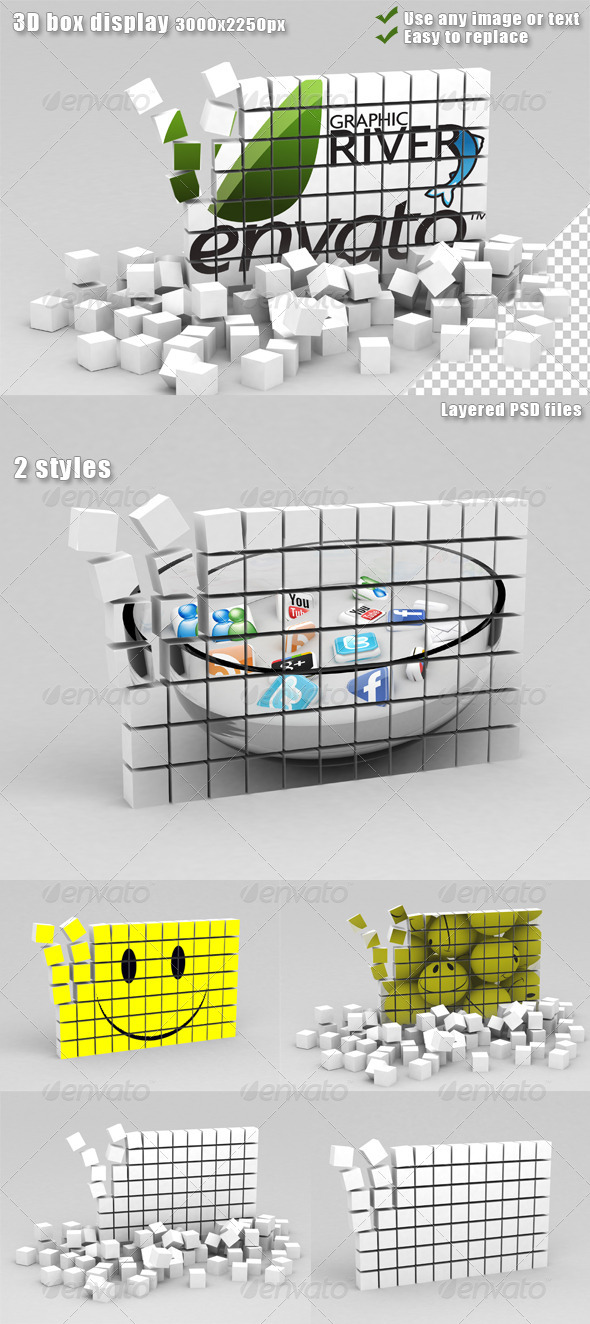 Graphic River 3D Box Display Graphics -  Backgrounds  3D 893373