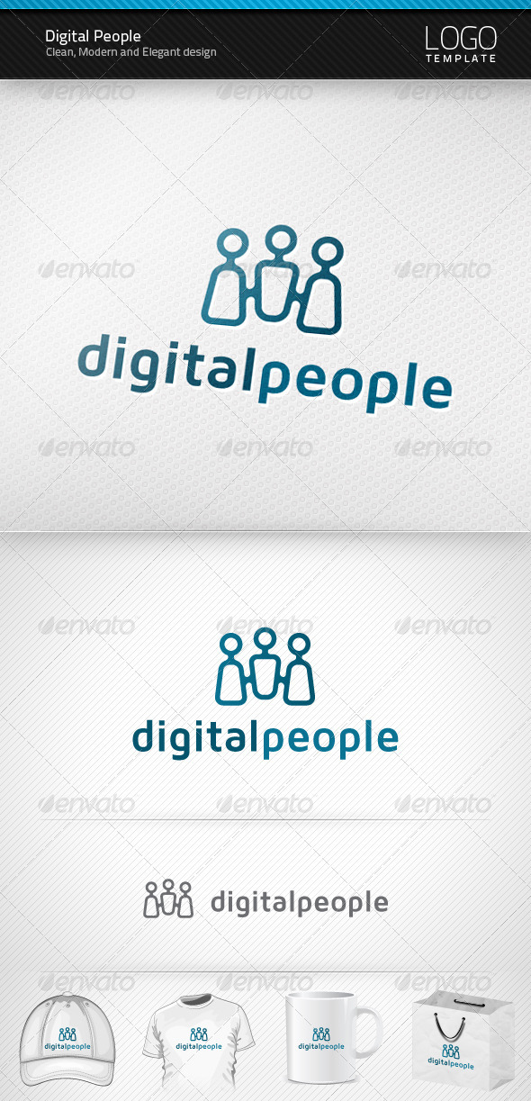 Graphic River Digital People Logo Logo Templates -  Symbols 909018