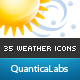 35 Weather Forecast Icons - GraphicRiver Item for Sale