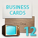 Business Card - Set of Twelve - GraphicRiver Item for Sale