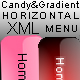Candy & Gradient XML Horizontal Menu - ActiveDen Item for Sale