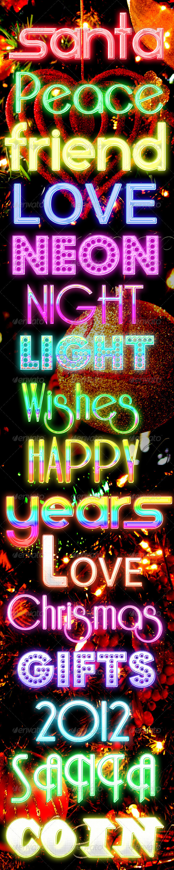 Graphic River 16 Night Light celebration Styles Add-ons -  Photoshop  Styles  Text Effects 910728