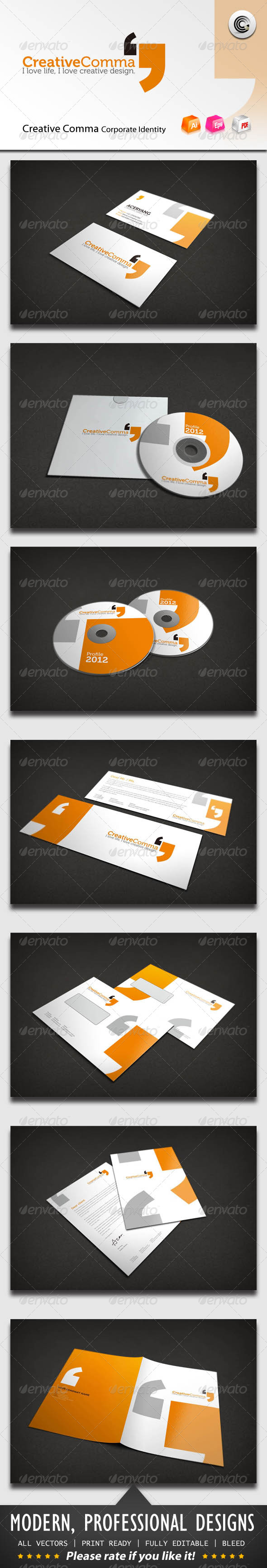 Graphic River Creative Comma Corporate Identity Print Templates -  Stationery 913143
