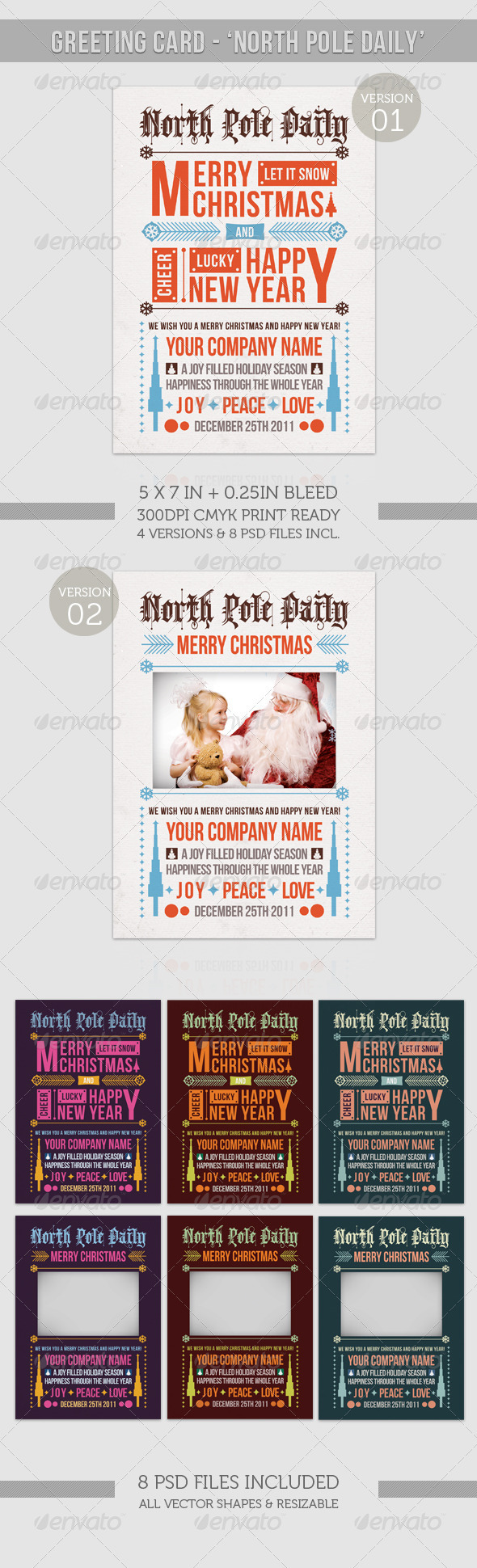 GraphicRiver Happy Holiday Merry Christmas North Pole Daily 919123
