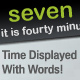 Word Clock - Time Displayed With Words - ActiveDen Item for Sale
