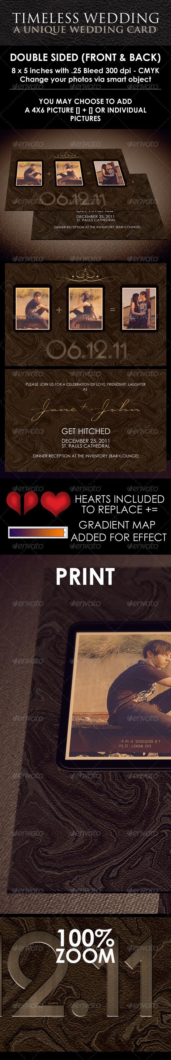 Graphic River Timeless Wedding Invitation Print Templates -  Cards & Invites  Weddings 922813