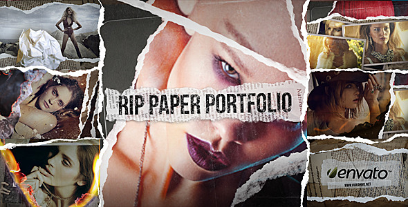 After Effects Project - VideoHive Rip Paper Portfolio 924407