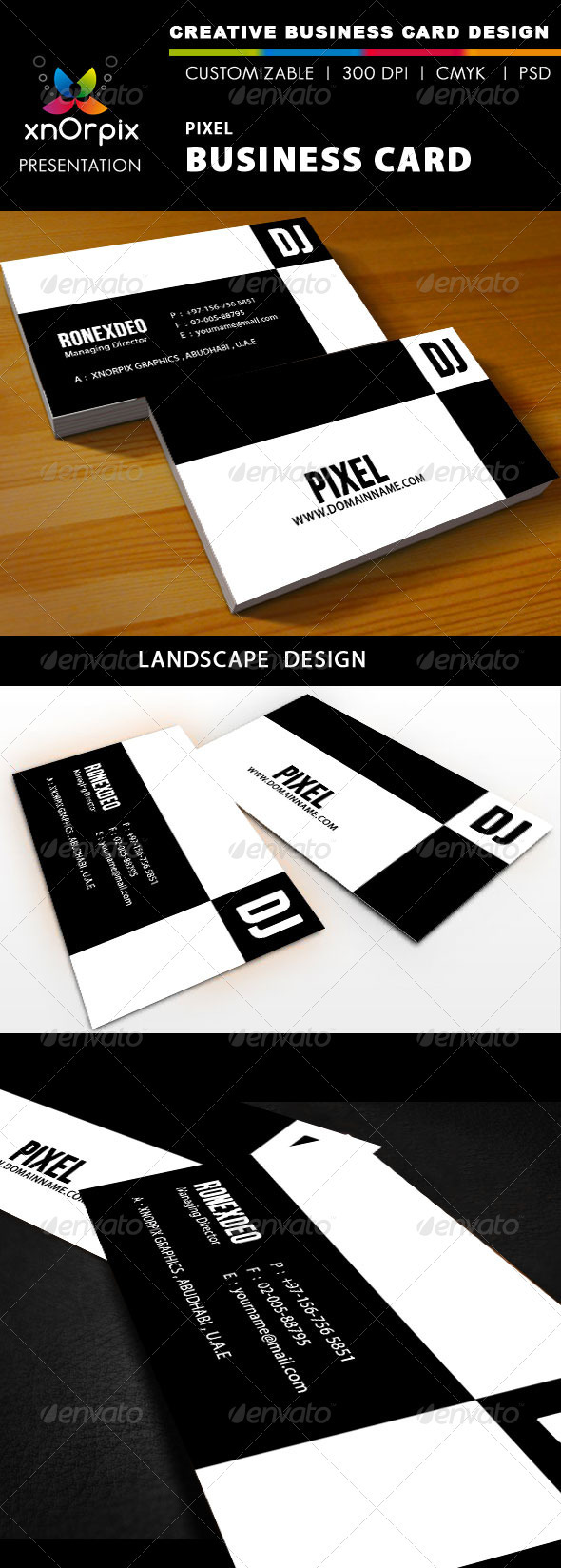 Graphic River Pixel Business Card Print Templates -  Business Cards  Corporate 928590