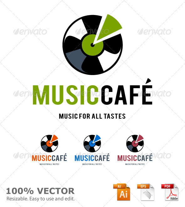 Graphic River Music cafe logo template Logo Templates -  Abstract  Vector 928686