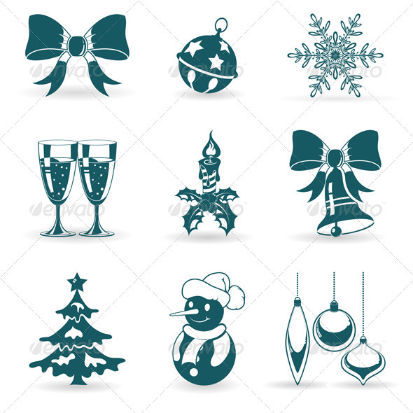 Graphic River Christmas Icons Vectors -  Conceptual  Seasons/Holidays  Christmas 928814