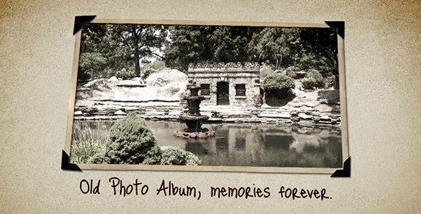 After Effects Project - VideoHive Old Photo Album 38429