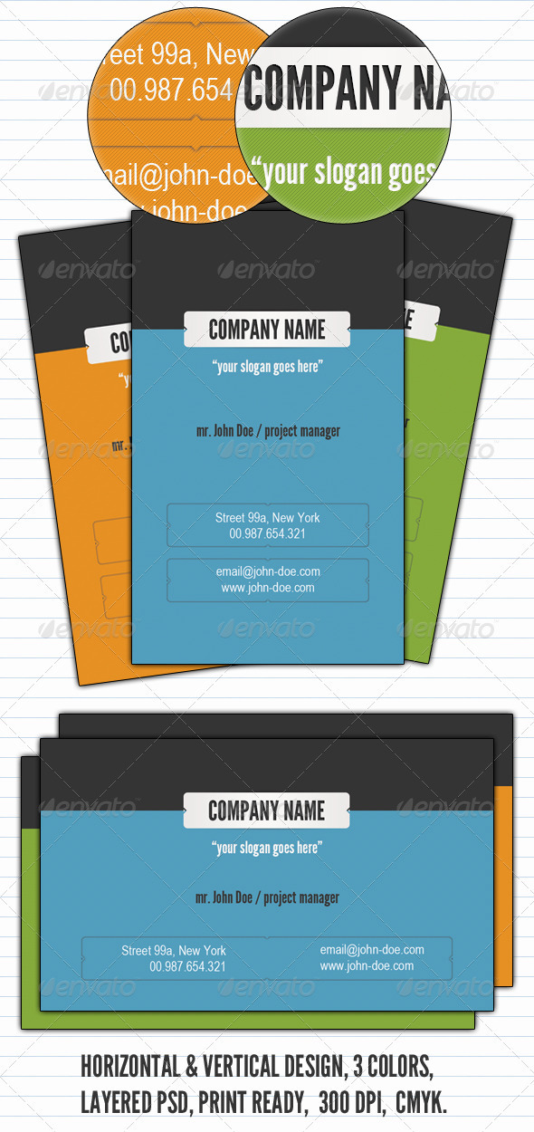 Graphic River Clean & Simple Business Card  Print Templates -  Business Cards  Creative 930219
