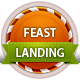 Feast Landing - Responsive, Christmas landing page - ThemeForest Item for Sale