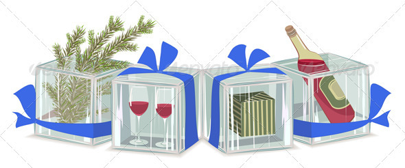 Graphic River Christmas Composition in Ice Cubes Vectors -  Conceptual  Seasons/Holidays  Christmas 930358