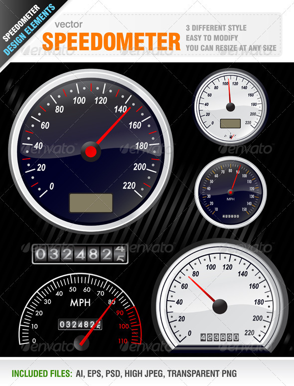 Graphic River Speedometers Vectors -  Objects  Man-made objects 931029