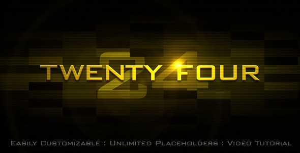 After Effects Project - VideoHive Twenty Four 932510