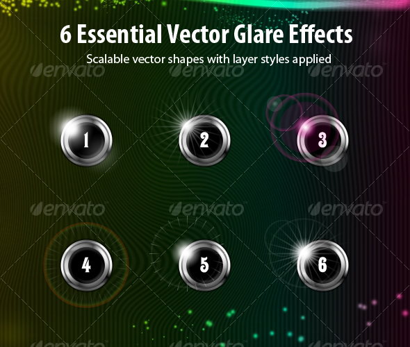 GraphicRiver 6 Vector Light Effects 117901