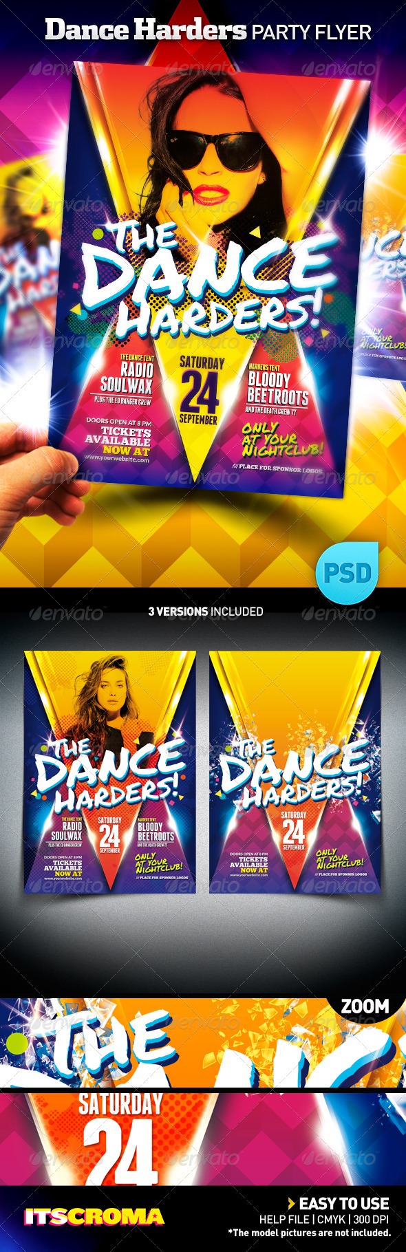 GraphicRiver Club Night Party Flyer Poster The Dance Harders 400790