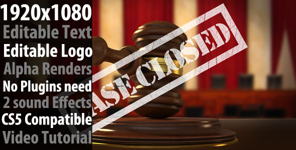 After Effects Project - VideoHive Gavel And Stamp 843182