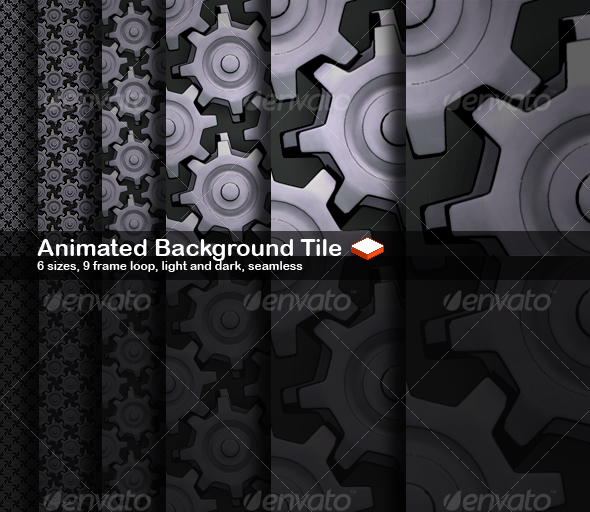 GraphicRiver Animated Seamless Background Tile Cogs 38537