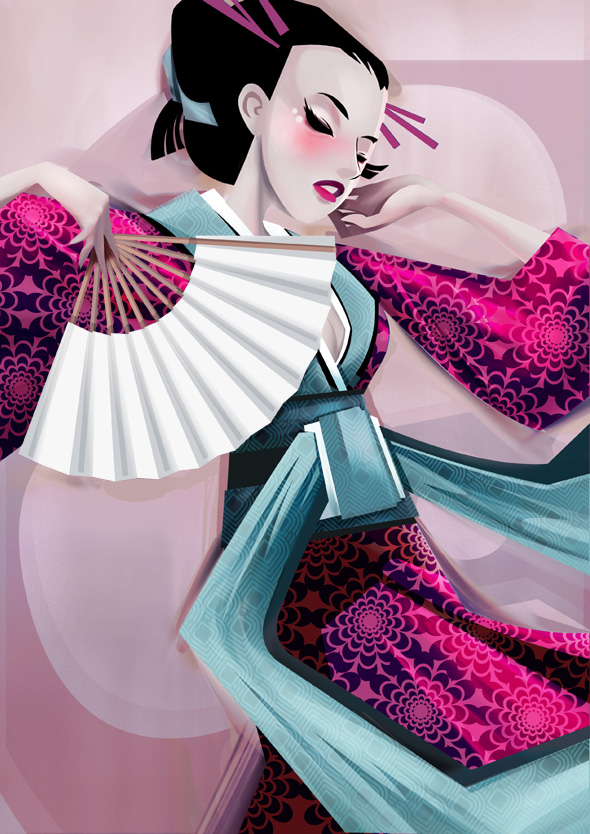 TutsPlus How to Draw a Kimono Dancer with Illustrator Flash & Painter 118613